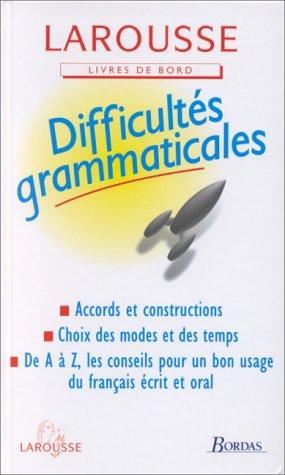 9782038001143: Difficultés grammaticales