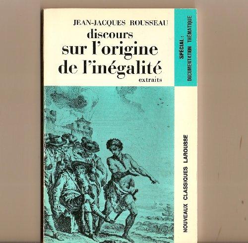 9782038701593: Discours Sur l'Origine De l'Inegalite (French Edition)