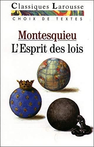 9782038713312: L'esprit Des Lois (Classiques Larousse) (French Edition)