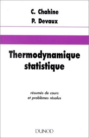 9782040004422: Thermodynamique statistique - résumés de cours et problèmes résolus