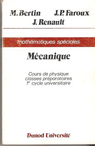 9782040017859: Cours de physique : Mathématiques spéciales (Dunod université)