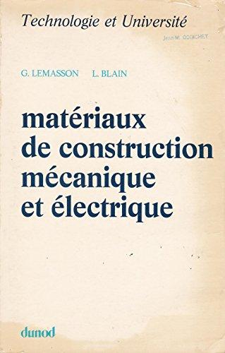 9782040040253: Mat�riaux de construction m�canique et �lectrique