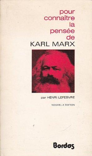 9782040076276: Pour conna�tre la pens�e de Karl Marx