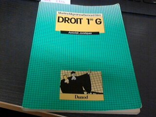 Droit, 1re G