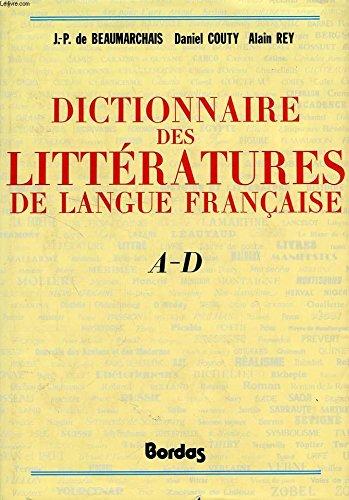 Dictionnaire des littératures de langue française
