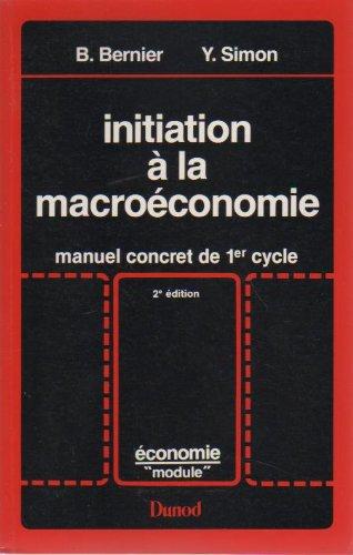 9782040165178: Initiation � la macro�conomie