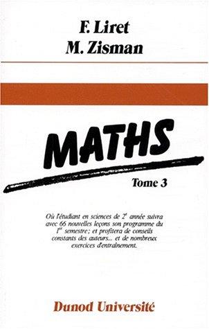 9782040165246: Mathématiques, tome 3