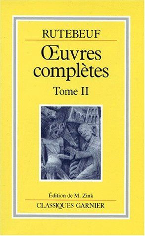 9782040173739: Rutebeuf, Oeuvres complètes, tome 2