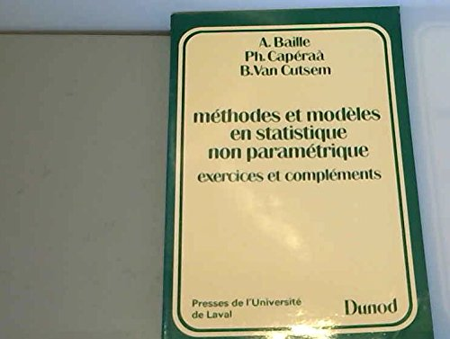 9782040186500: Méthodes et modèles en statistiques non-paramétriques...