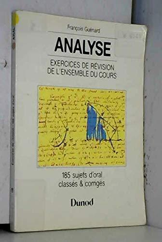 9782040207151: Analyse exercices derevision de l'ensemble du cours premier cycle