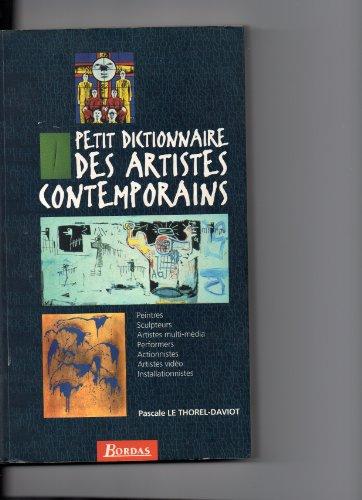 9782040270872: Petit dictionnaire des artistes contemporains