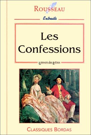 Couverture de Les confessions ; extraits