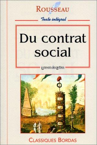 Du contrat social: Rousseau