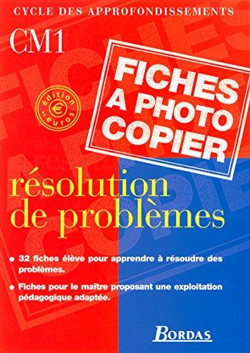 Resolution problemes CM1 euro 2001: Chaufour