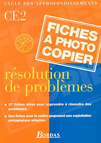 9782047295687: R�solution de probl�me, CE2
