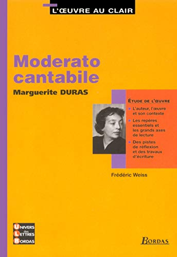 9782047303924: Moderato cantabile, Marguerite Duras (French Edition)