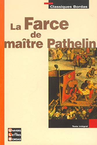 9782047304365: la farce de maitre pathelin
