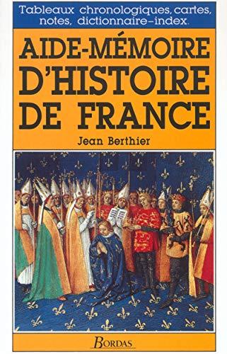 9782047305348: Aide-mémoire dhistoire de France