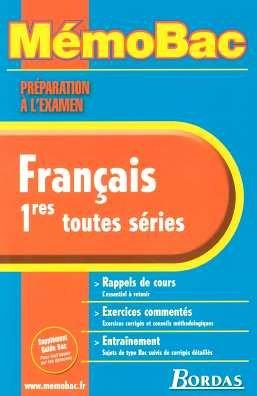9782047308189: MEMO PREPA. EXAM. FRANCAIS 1ERE NC (Ancienne Edition)