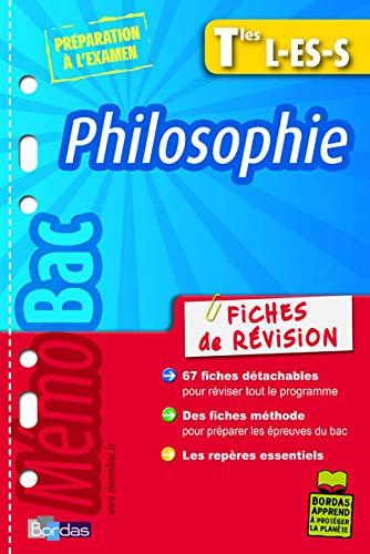 Philosophie Tles L-ES-S : Fiches de révision