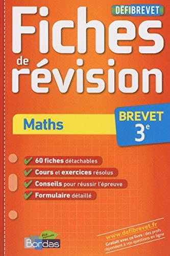 9782047319758: Maths Brevet 3e : Fiches de révision (DéfiBrevet)