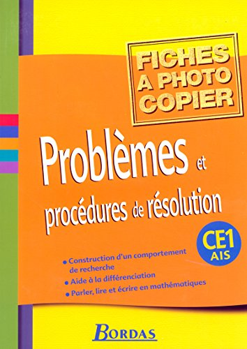 9782047321515: Problemes et procedures de resolution CE1 (French Edition)