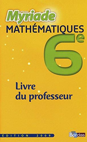 9782047325193: Myriade 6e · Livre du professeur