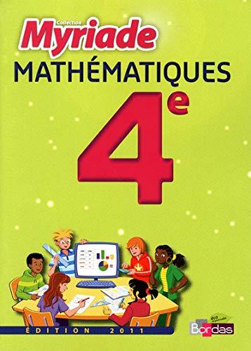 9782047328347: Maths 4e Myriade Man Petit Format 2011