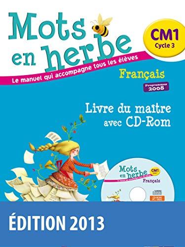 9782047330470: Mots en herbe CM1 : Livre du maitre (1CD audio)