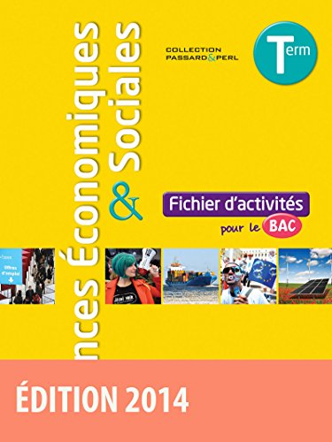 9782047331453: Sciences �conomiques et sociales Tle ES Fichier d'activit�s