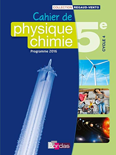 9782047333013: Cahier de Physique-chimie 5e Cycle 4