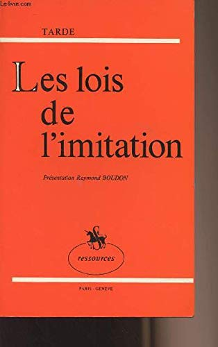 9782050001138: Les lois de l'imitation: Etude sociologique (Collection Ressources) (French Edition)