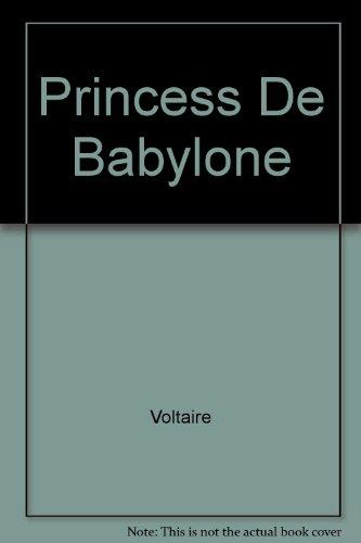 9782051009874: Princess De Babylone (French Edition)
