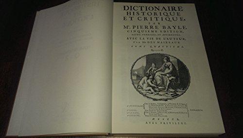 9782051012386: Dictionnaire historique et critique