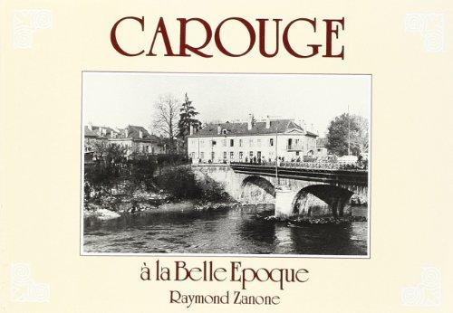 9782051014847: Carouge a la Belle-Epoque