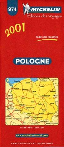 9782060001715: Michelin 2001 Poland Map (Michelin Maps)