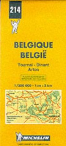 9782060002149: Michelin Tournai/Dinant/Arlon, Belgium & Luxembourg Map No. 214 (Michelin Maps & Atlases)
