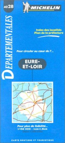 9782060040288: Carte routi�re : Eure-et-Loir, 4028, 1/150000