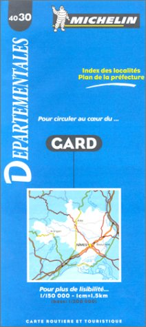 9782060040301: Michelin Gard Departemental Map (Departmental Maps)