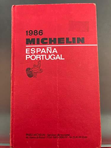 Michelin Red Guide 1986: Espana, Portugal: Michelin Travel Publications