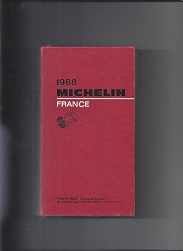 9782060064888: Michelin Red Guide: France, 1988