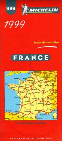 9782060989273: Michelin Main Road Map: France/1999 (Michelin Map, 989)