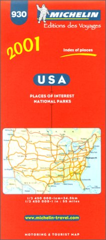 9782061000014: Michelin USA Map No. 930, 7e