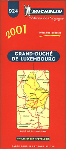 9782061000038: Michelin Luxembourg Map No. 924, 4e