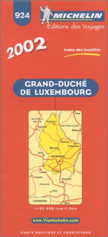 9782061000984: Michelin Luxembourg Map No. 924, 5e