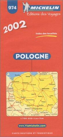 9782061001059: Michelin Poland Map No. 974, 5e