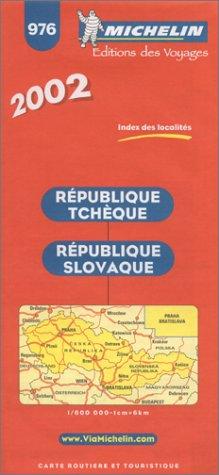 9782061001066: Michelin Czech & Slovak Republic Map No. 976, 6e