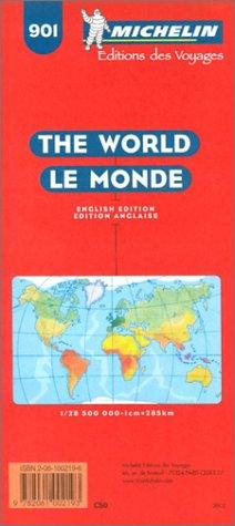 9782061002193: Michelin The World Map No. 901, 12e