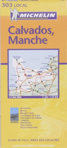 9782061003640: Michelin France: Calvados, Manche Map No. 303 (Michelin Local France) (French Edition)