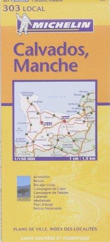 9782061003640: CALVADOS / MANCHE 11303 CARTE ' LOCAL ' ( France ) MICHELIN KAART